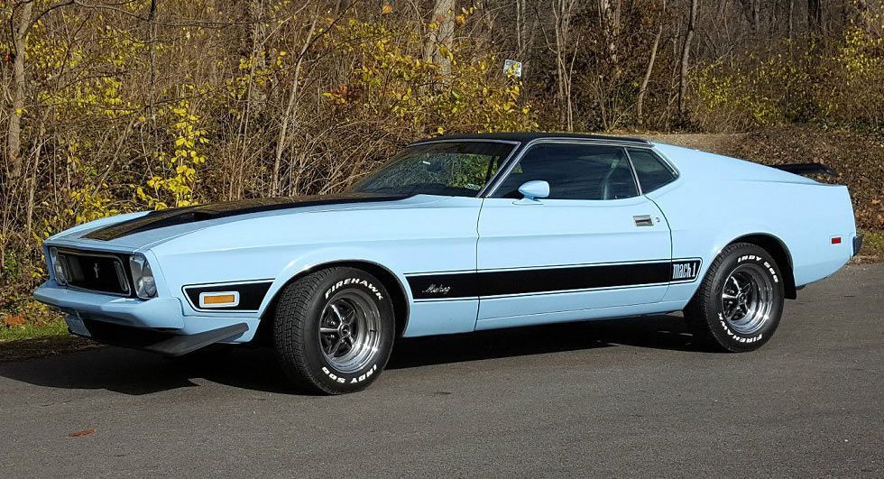 'Baby' Blue 1973 Ford Mustang Mach 1 Could Be Yours For $14K | Carscoops