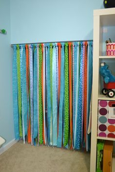 Ribbon Door Curtain Google Search Playroom Curtains Ribbon