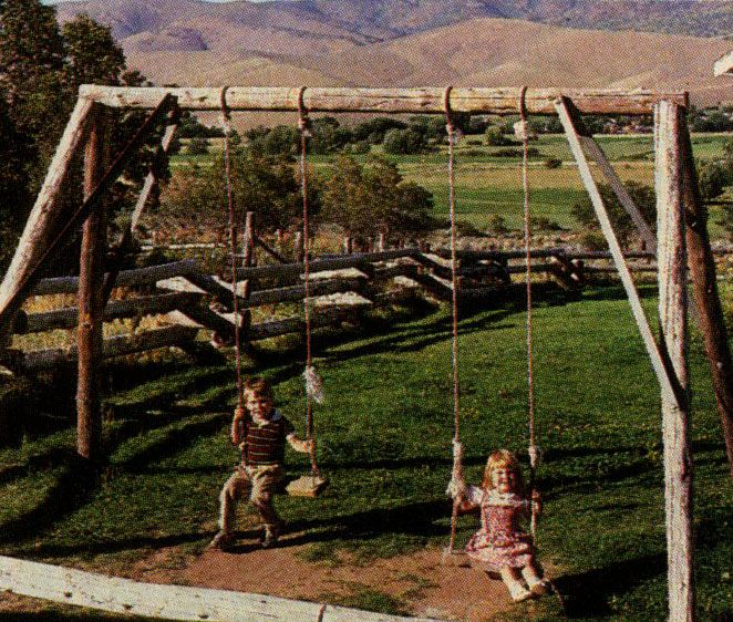Building with Logs Log Framing DIY campground idea in