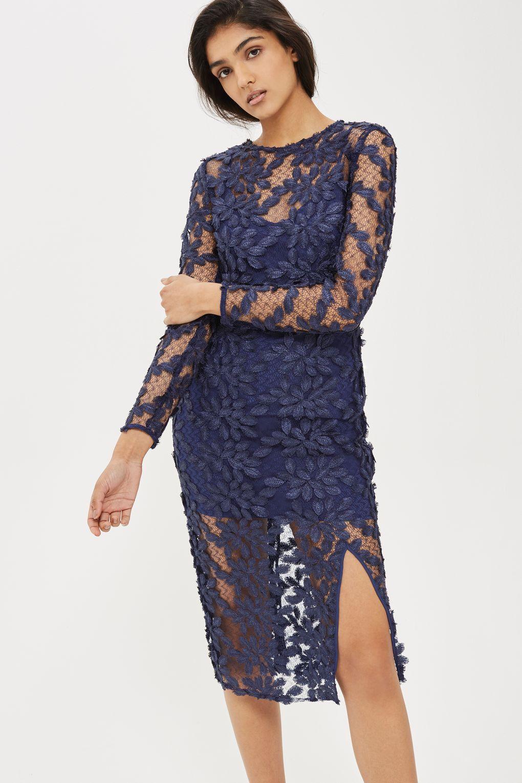Leaf Applique Dress