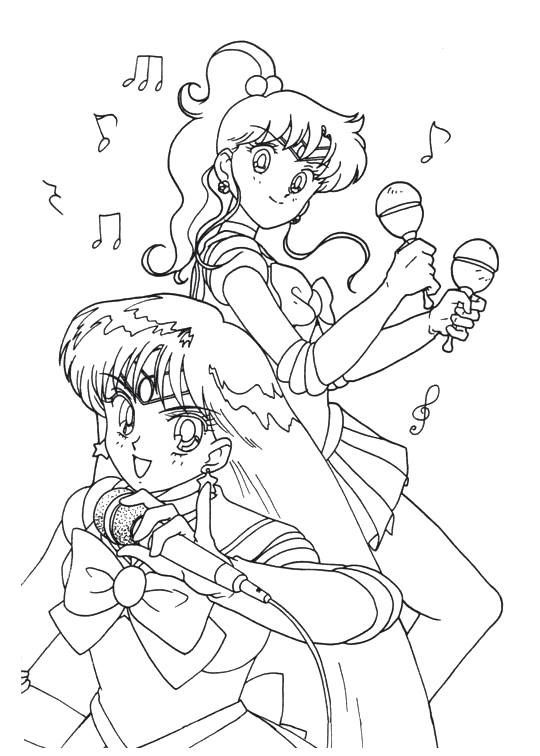 Sailor Moon Series Coloring Pages Sailor Mars And Sailor Jupiter