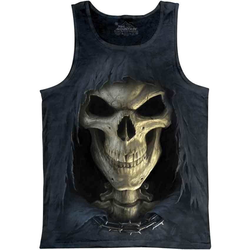 DEATH RIBS Allover Sleeveless T-Shirt Blood//Horror//Skulls//Biker//Reaper//Tee//Top
