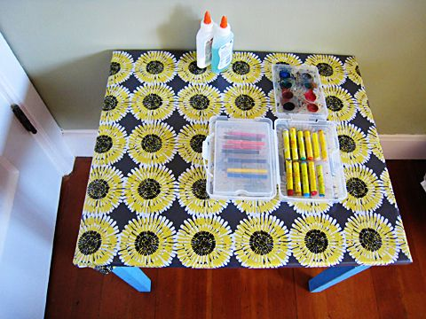 Kid Art Table More Reasons I Want To Own Gobs And Of Oil Cloth A Good Etsy Er Than My Local Super Fabric