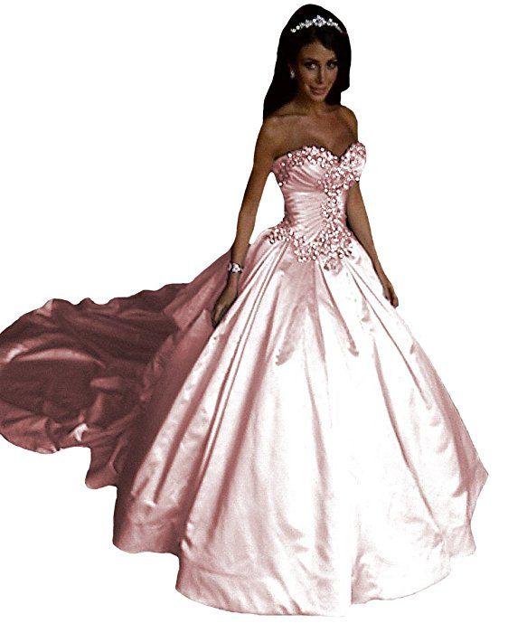 O.D.W Gotisch Frauen Lange Brautkleider Vintage ...