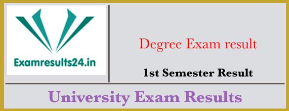 Degree 1st Sem Results 2019 - Manabadi Degree first Sem