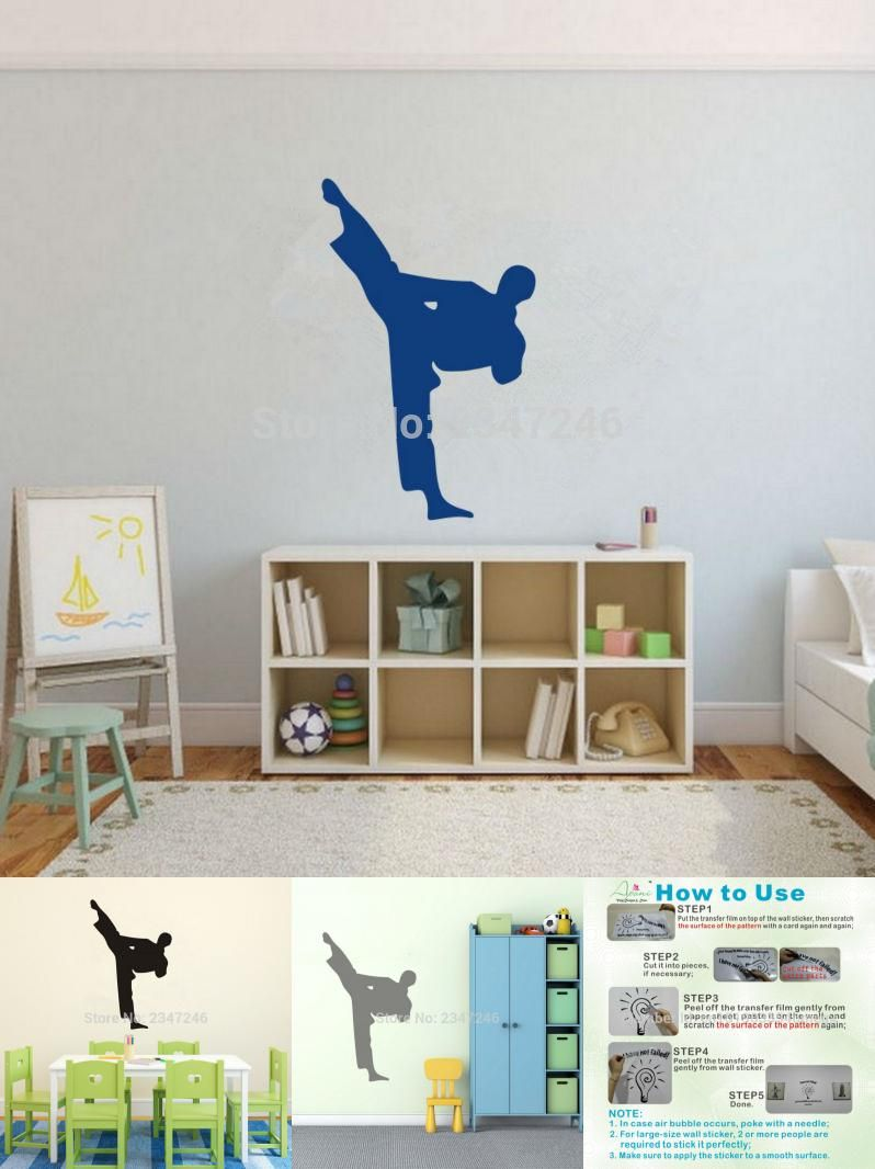 Wandtattoo Judo Visit To Buy Karate Punch Pose Wall Decal Martial Arts Vinyl