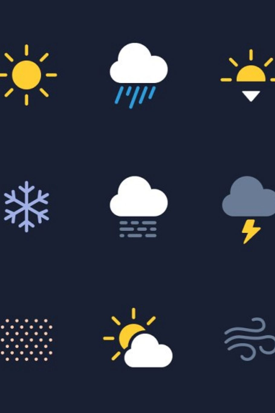 Weather Icons Svg Weather Icons Hand Drawn Icons Icon