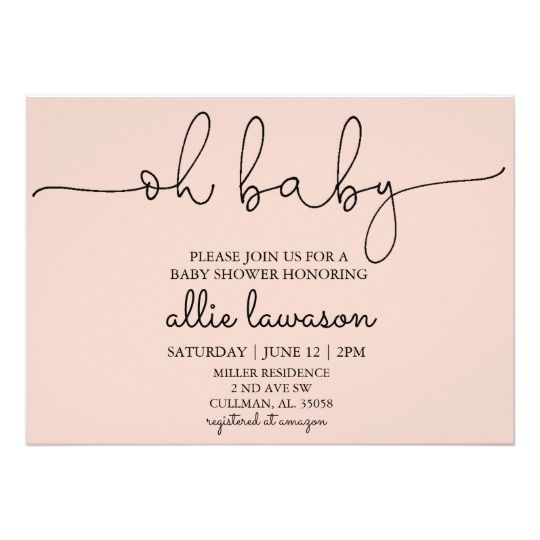 Oh Baby Baby Shower Invitation Oh Baby Shower Oh Baby