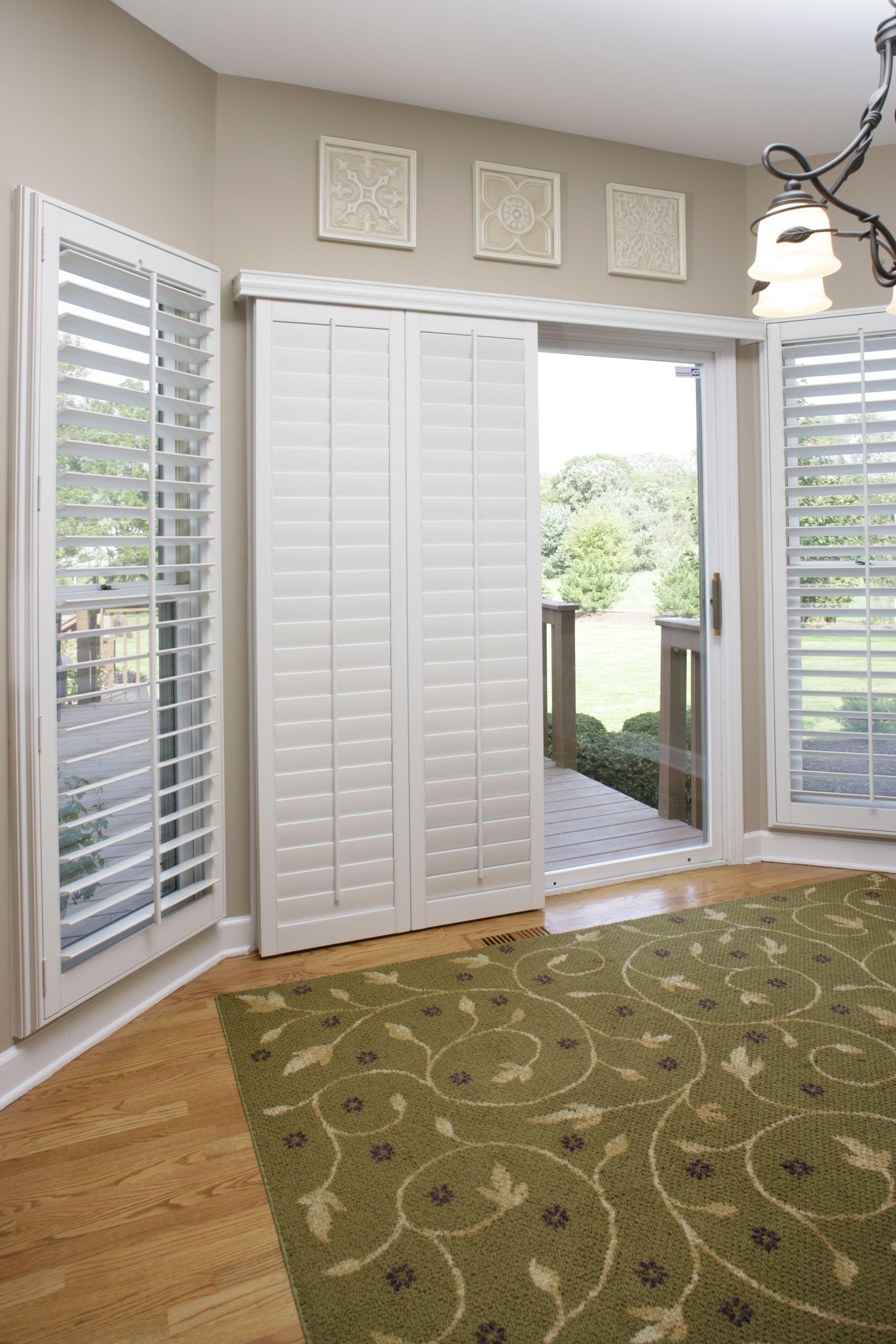 Dress Up An Ordinary Sliding Glass Door Using Polywood Shutters