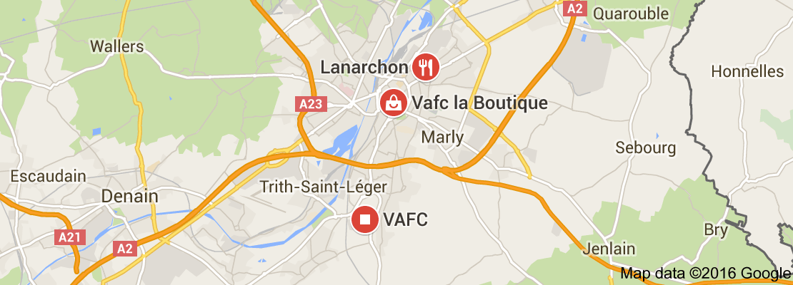 Map of Valenciennes FC