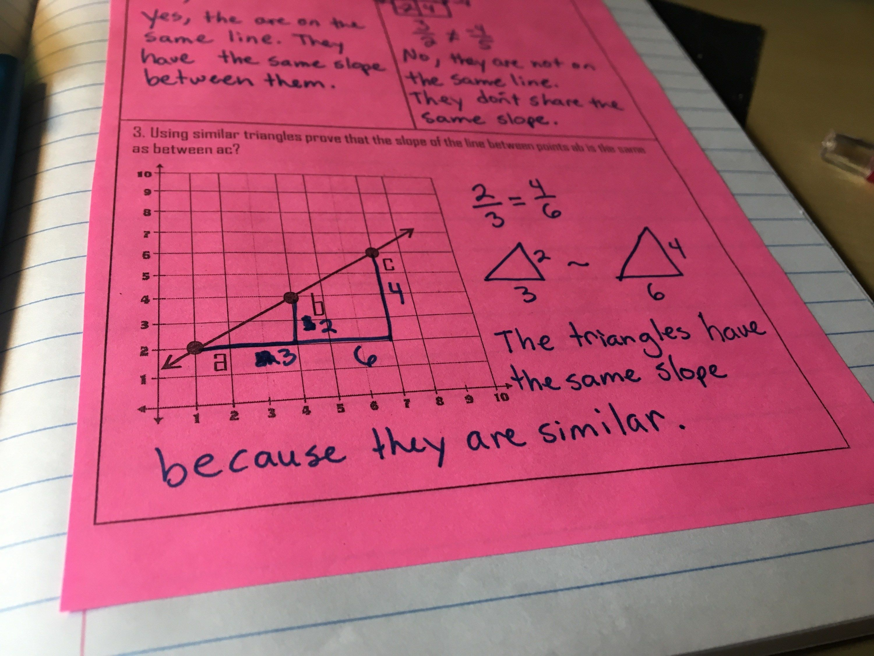 Teaching Similar Triangles And Slope In An Interactive Notebook Math Interactive Notebook Similar Triangles Middle School Math [ 2250 x 3000 Pixel ]