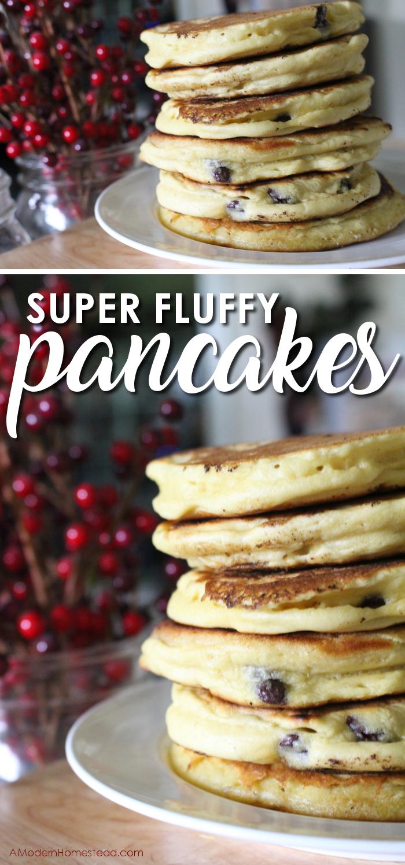 Super Fluffy Pancakes Recipe Pancakes Easy Tasty Pancakes Homemade Recipes