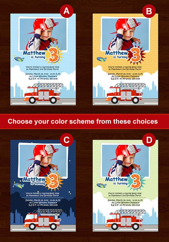 Fire Truck Birthday Invitations  Printable by DaDeeDa on Etsy, $9.99