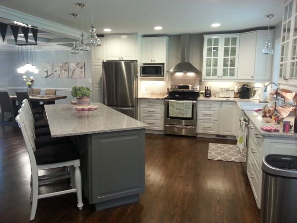 open concept kitchen cabinets atlantic salt gray cabinet 1960 s ranch white and gray 3718
