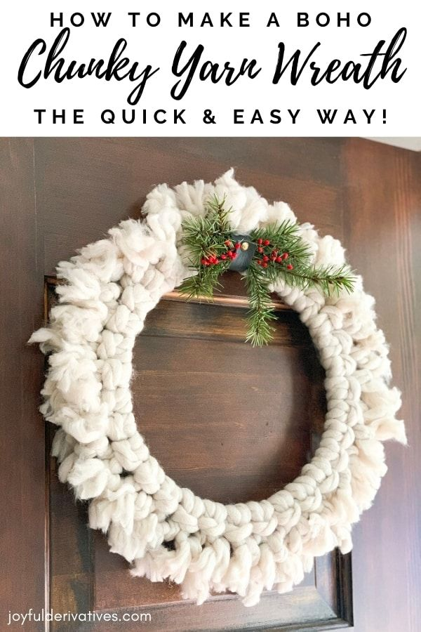 Photo of How to Make a DIY Chunky Yarn Wreath the Easy Way