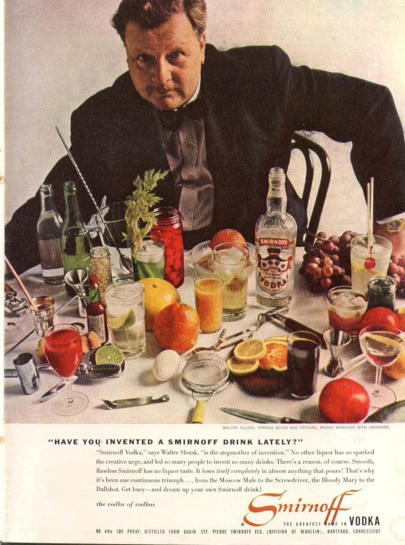 0 Walter Selzak for Smirnoff Vodka ad 1958