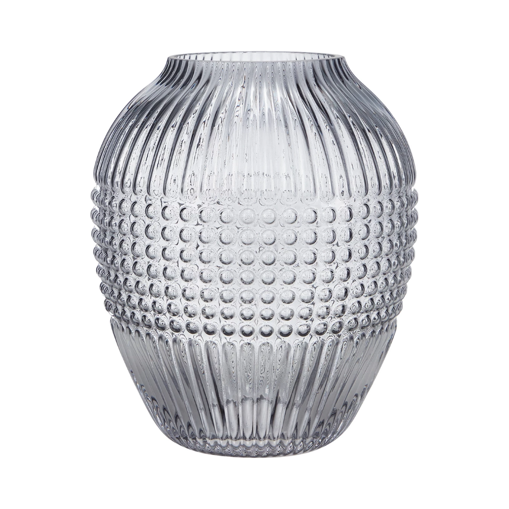 Debenhams Grey Embossed Vase Debenhams Exclusive Homes