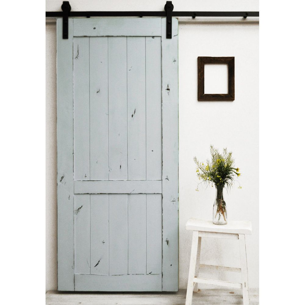 The Country Vintage Barn Door Features A Lightly Distressed Finish
