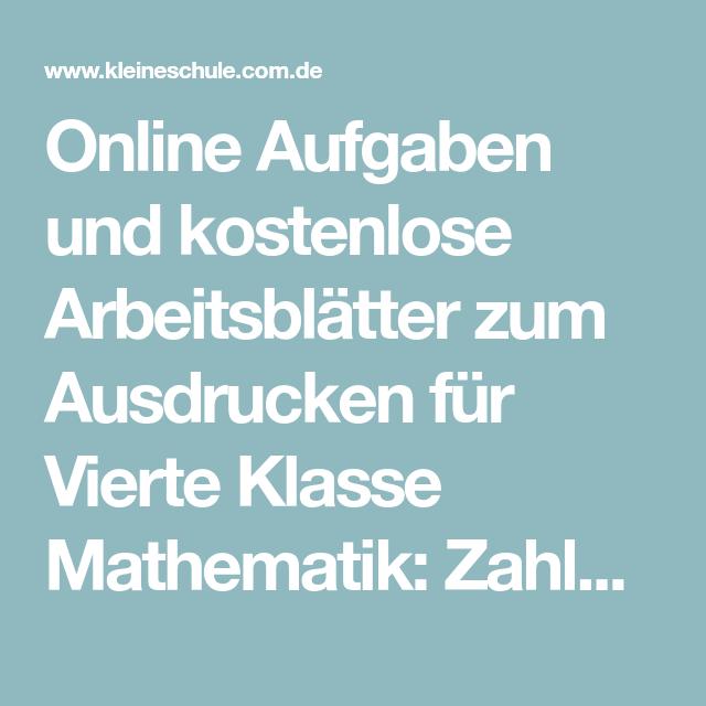 Online Aufgaben und kostenlose Arbeitsblätter zum Ausdrucken für ...