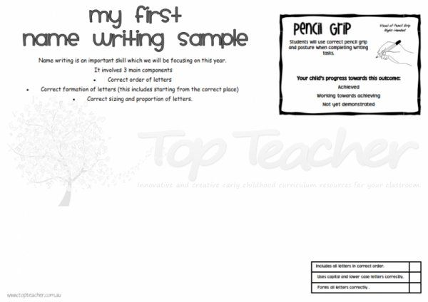 My first name writing sample Top Teacher - Innovative and creative