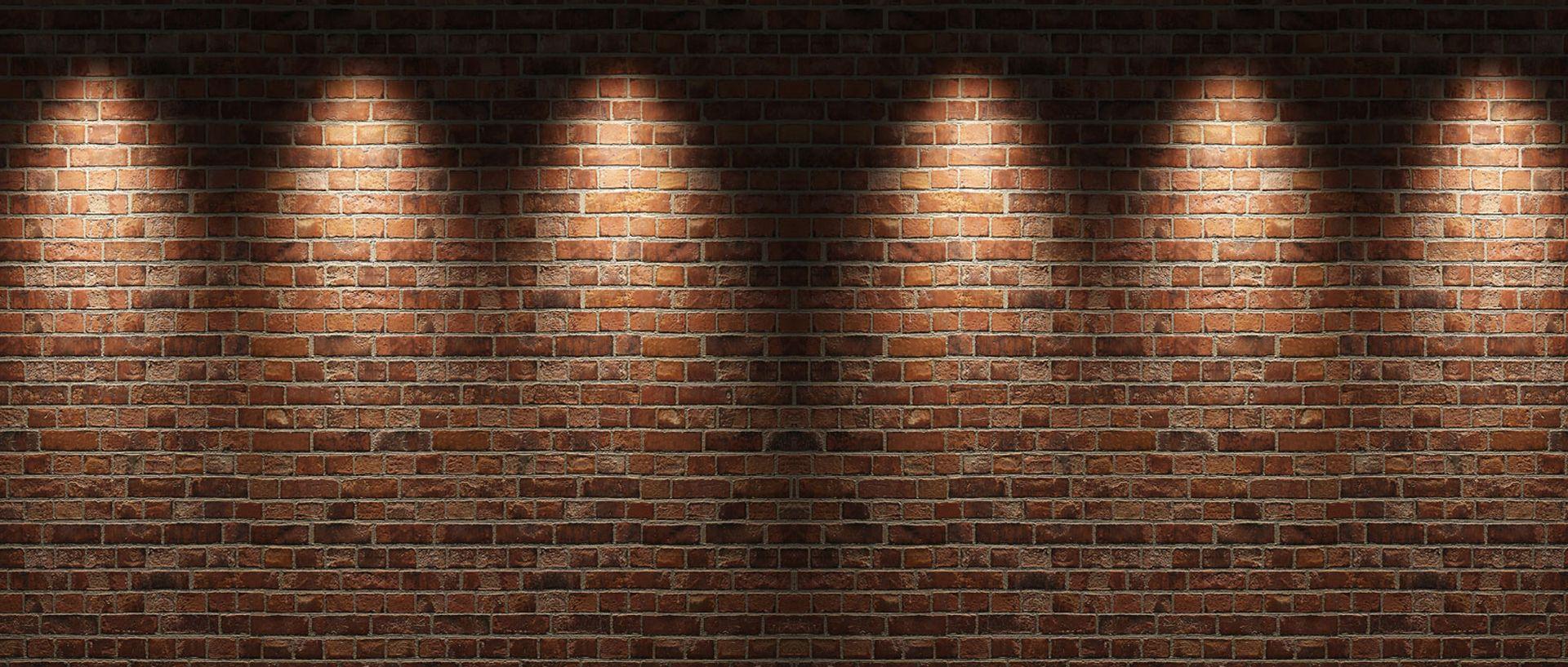 Simple Atmospheric Lighting Brick Taobao Poster Background Brick Wall Background Background Brick
