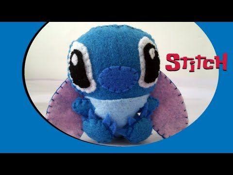 How to Make a cute Stitch plush from felt tutorial   Disney ...