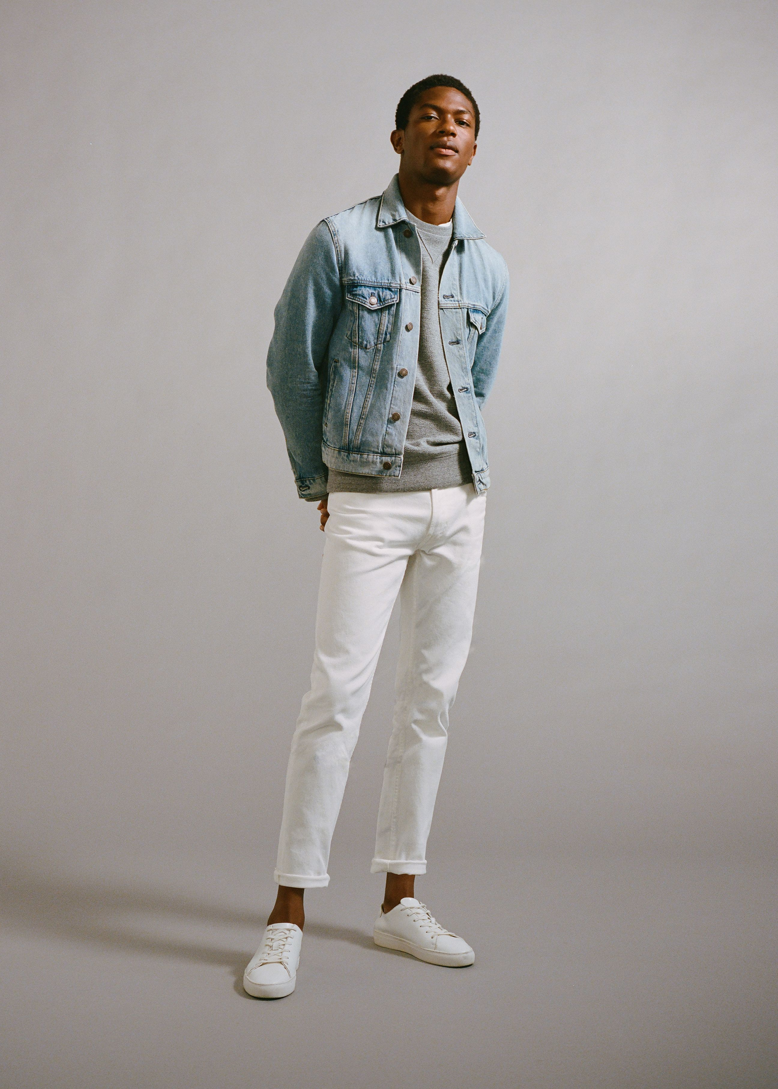 9bf6a49653 Jeans jan slim-fit blancos - Hombre. MANGO MAN SS 18