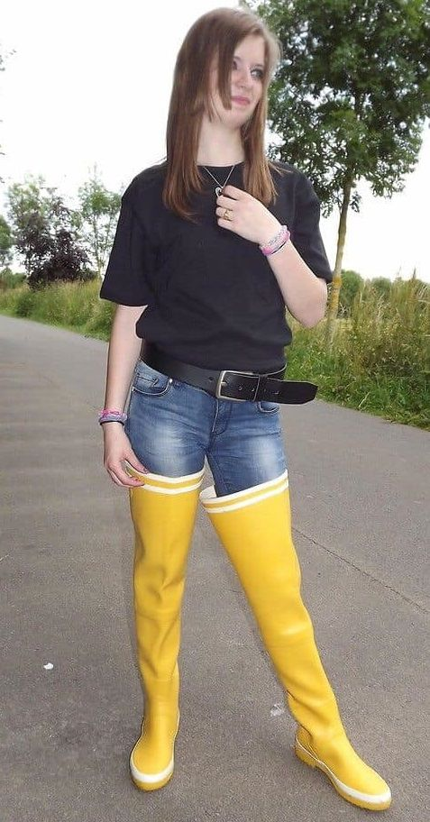 Pin op rubberboots
