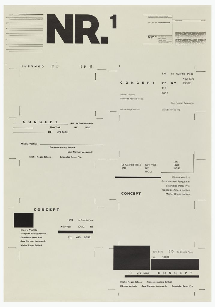 garadinervi Wolfgang Weingart, (1971-)1974Typographic Process, Nr - business report cover page
