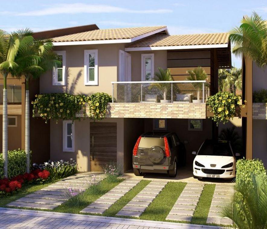 Fachadas de casas sencillas frentes de casas pinterest for Frentes de casas sencillas