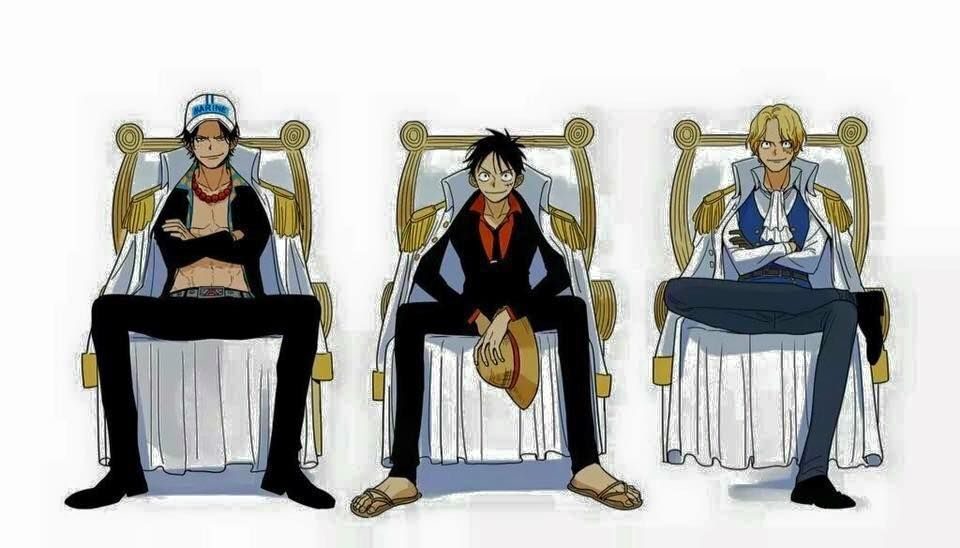 Ace Luffy And Sabo As Marines So Cool How Different Would
