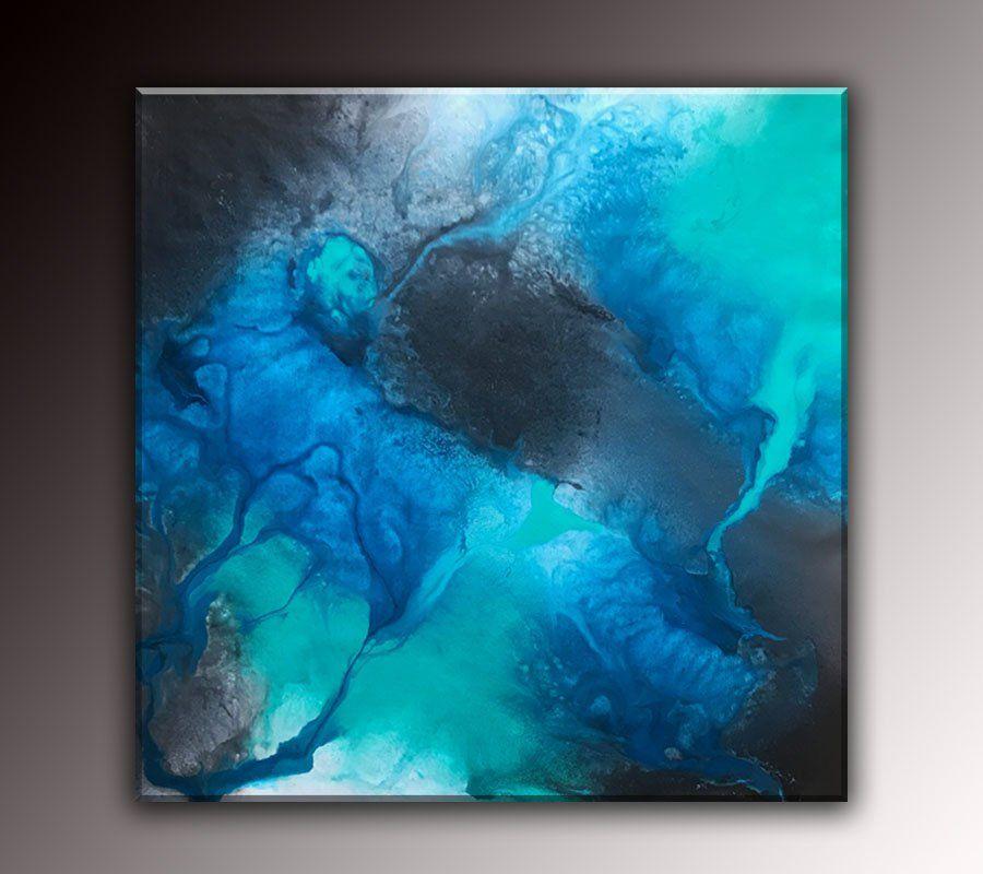Original Abstract Fluid Art Modern Large Canvas Painting