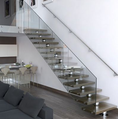 Escalera de aluminio moderna Casas Modernas Pinterest - Diseo De Escaleras Interiores