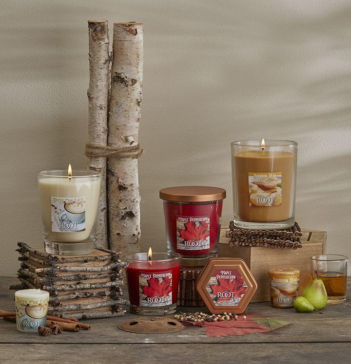 Autumn Splendor By Root Candles Bourbon Pear