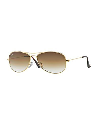 6382679a1d2 Ray-Ban 56MM Cockpit Pilot Sunglasses Women s Gold Brown