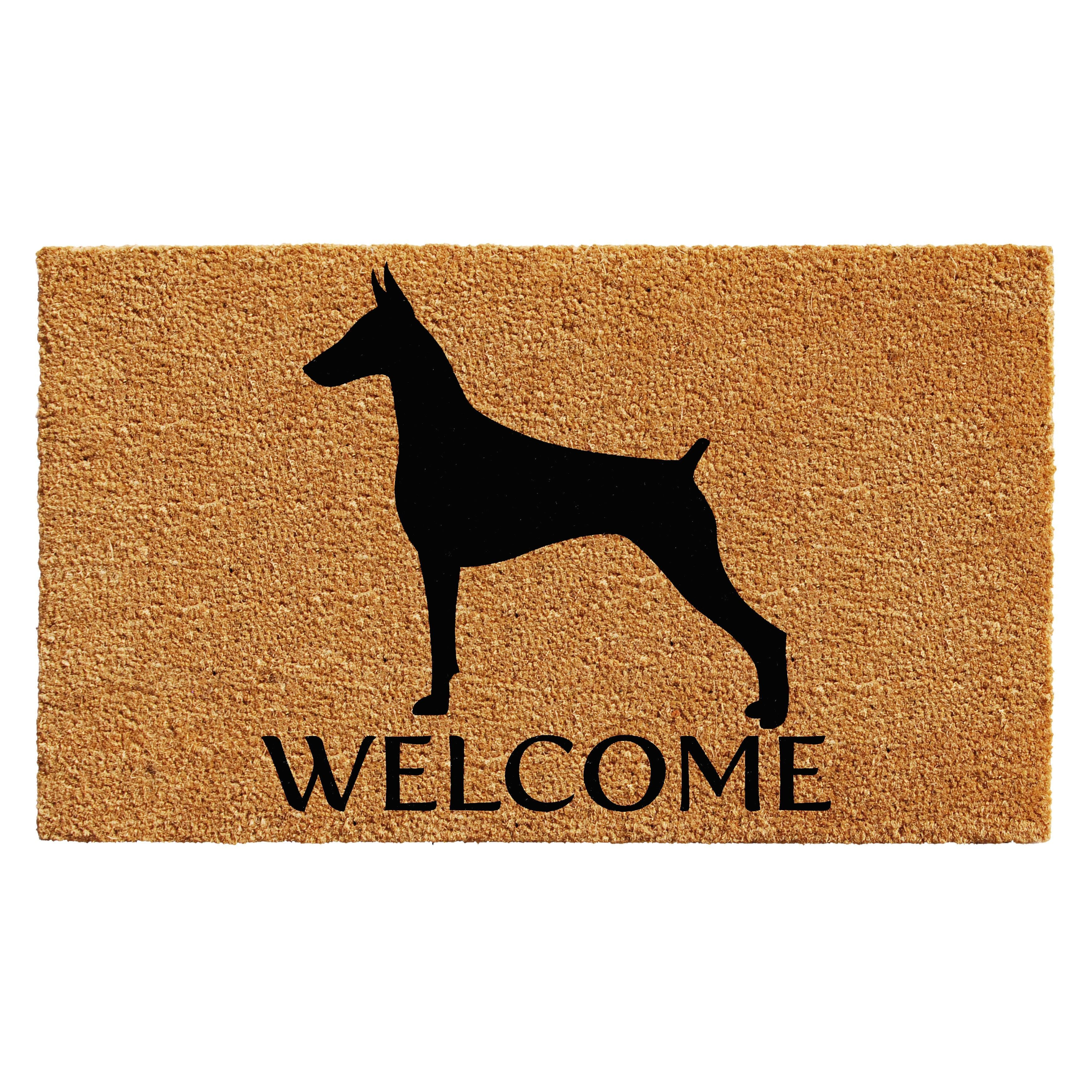 doormat blue coir lattice navy weather mats waverly greetings guard pin lovely door