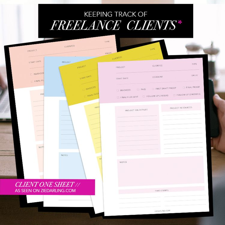 How to Keep Track of Freelance Clients  Projects Designers - spreadsheet template freelance