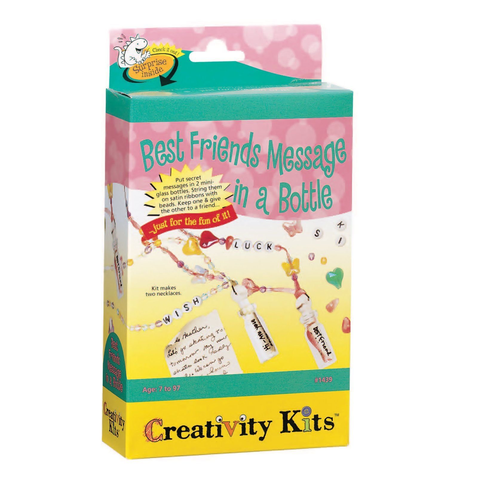 Creativity for Kids Best Friends Message in a Bottle Necklace Activity Set