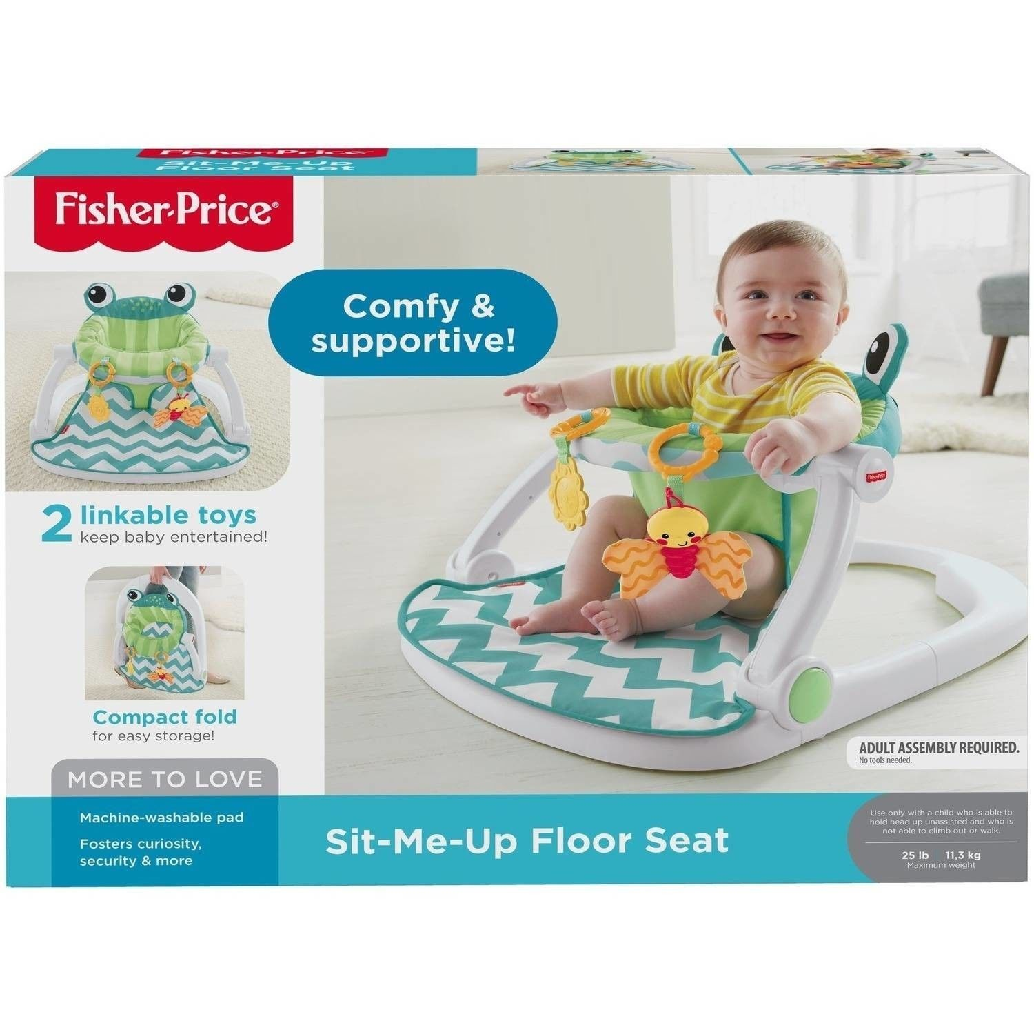 Citrus Frog Fisher Price Seat Sit Me Up Baby Feeding High Chairs