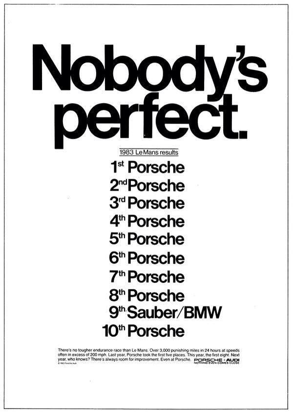 Nobody s perfect.  porsche  4  life ...  bmw  nobody  perfect  le  mans   1983 0bf38969e363
