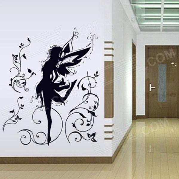 Elfin Bedroom Removable Wall Sticker - Black