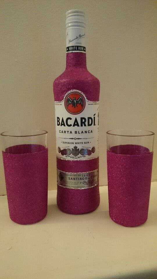 Glitter Bacardi gift set. Available from www.dazzlingcrafty.uk ...
