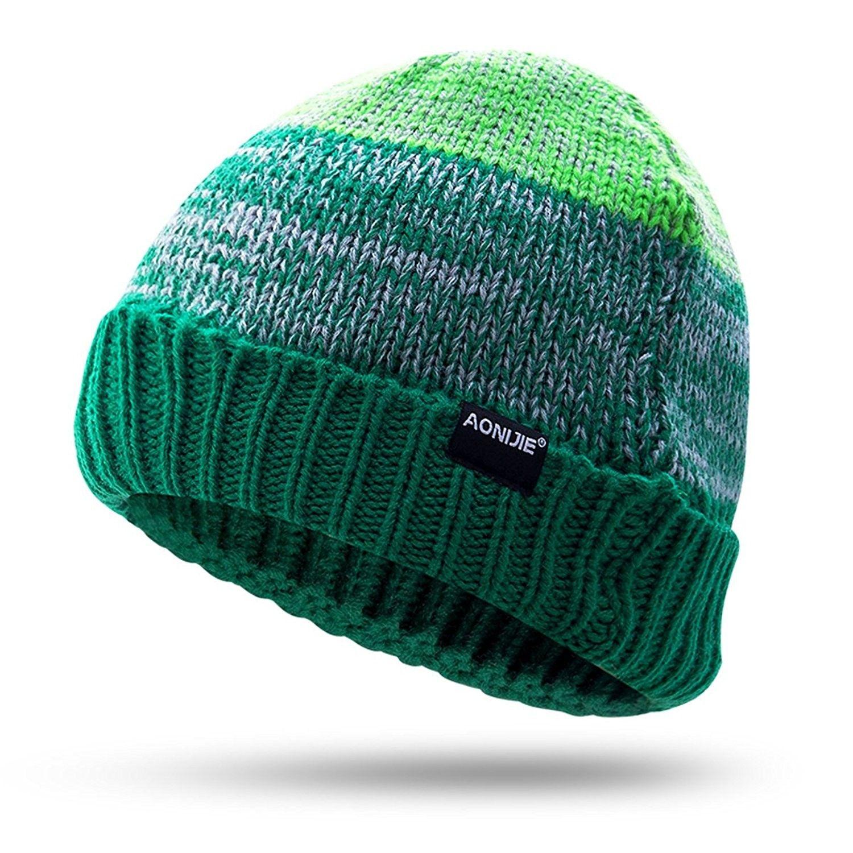 Winter Sports Hat Warm Knit Outdoors Cap Hiking Bicycling Running Cycling Woolen  Hat - Olive - CS187I85EAX - Hats   Caps 36392c19f