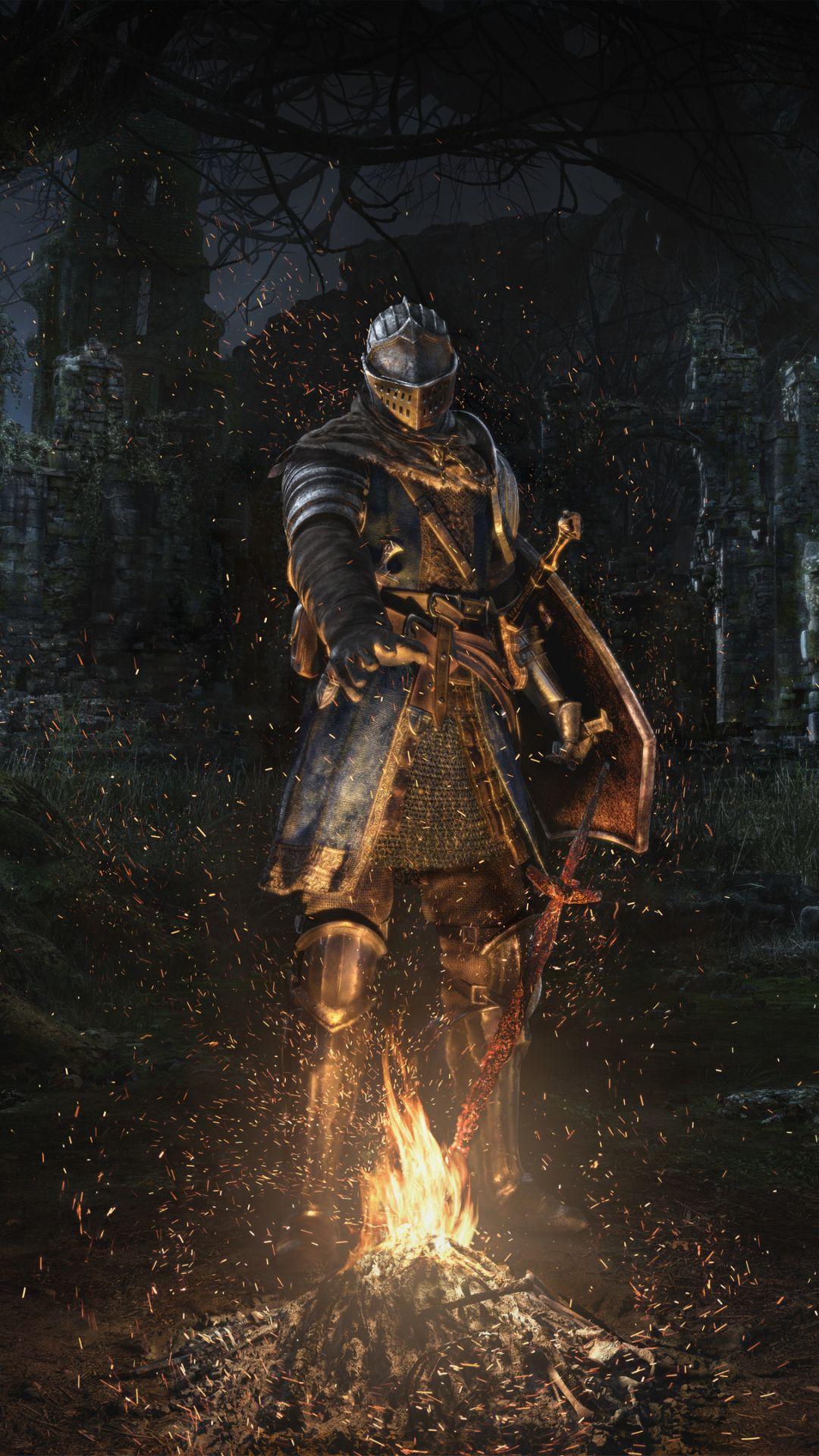Video Game Dark Souls 1080x1920 Mobile Wallpaper Dark