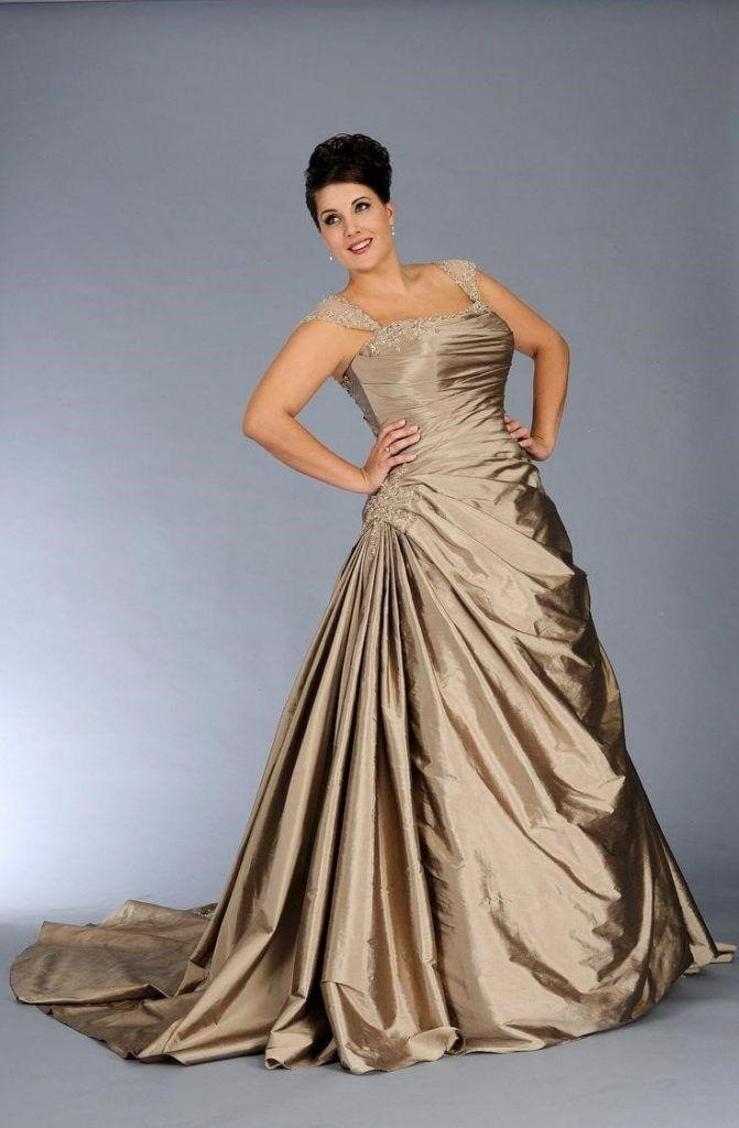 Plus size wedding dresses champagne color color wedding for Colored plus size wedding dresses