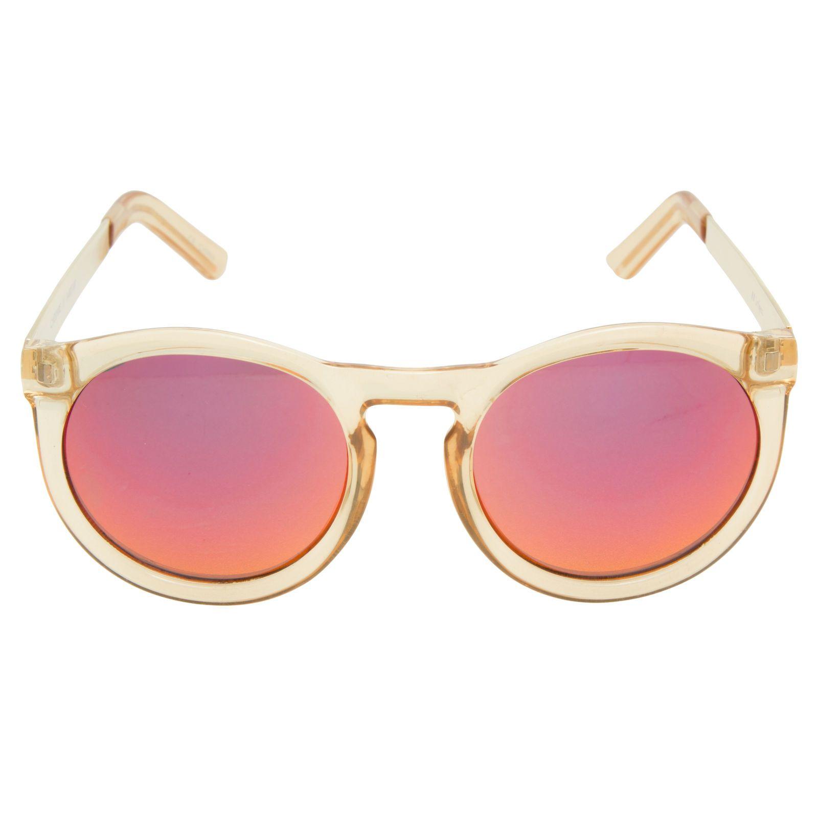 36add99800e98 Óculos espelhado Cheshire Le Specs - Ousado e moderno, o óculos de sol  conta com lente espelhada de proteção UVA e UVB, armação em acetato  transparente e ...