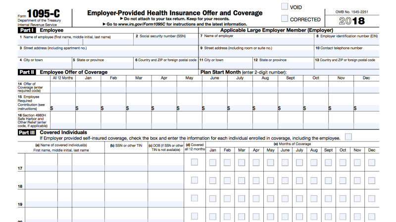 What To Do With Tax Form 1095 C Affordable Health Insurance