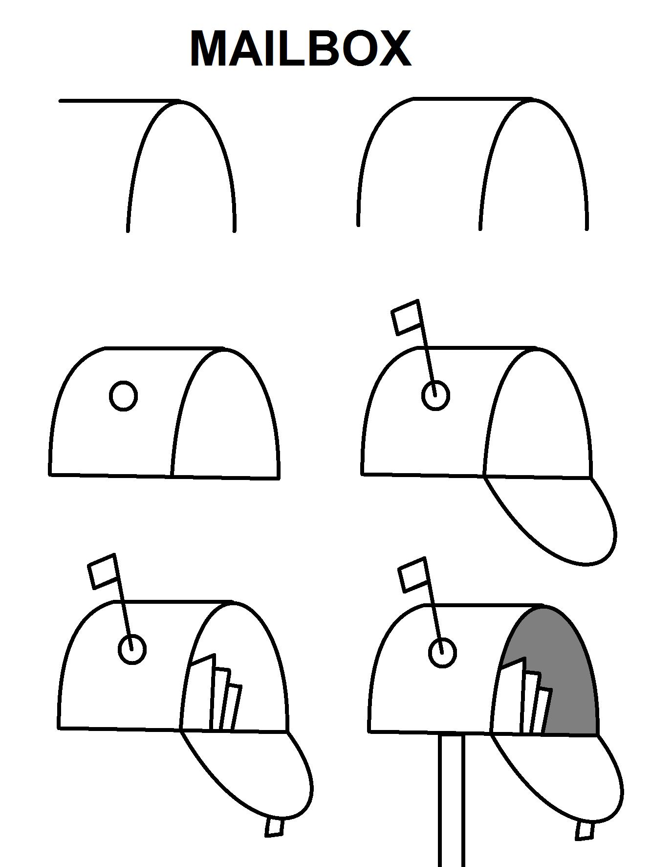 Mailbox Cute Easy Drawings Art Drawings For Kids Easy Drawings
