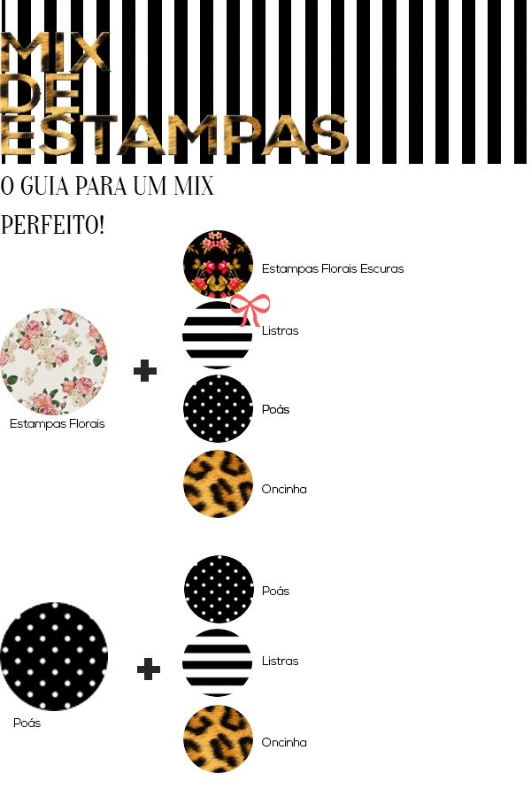 c0636d11349 Guia do mix de estampas!  iniciantes Guía De Moda
