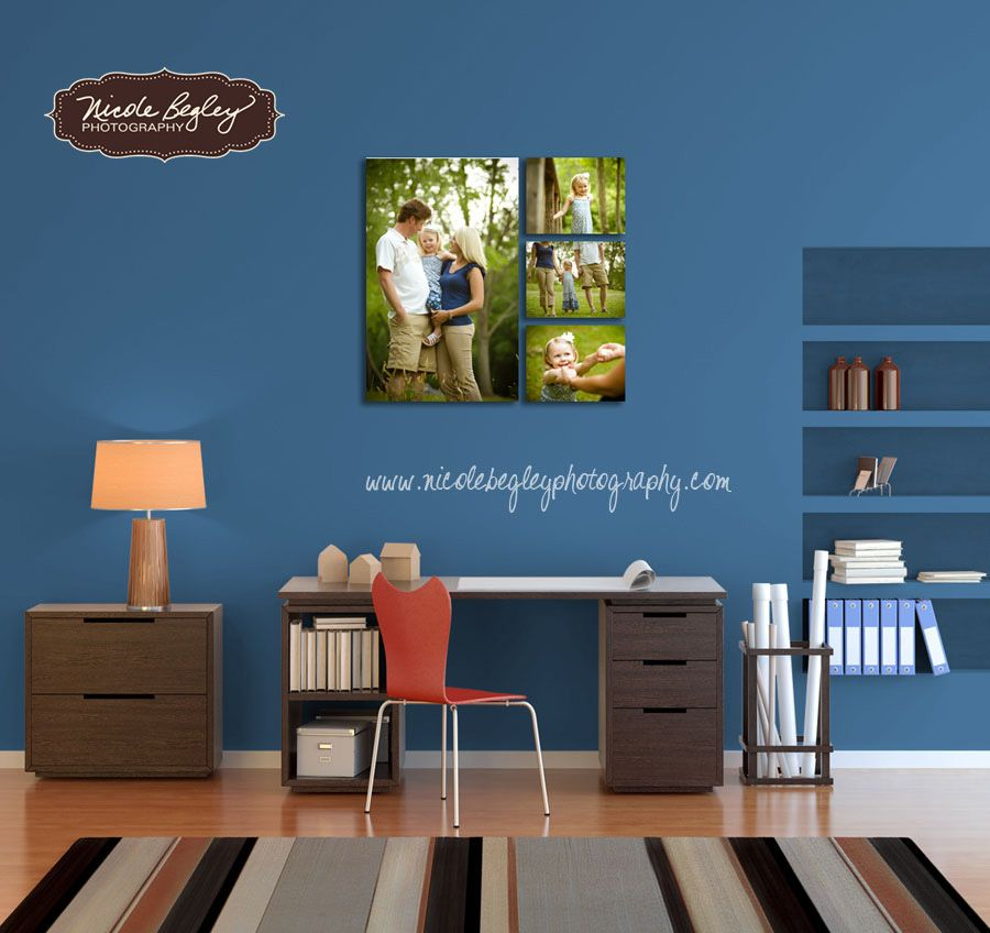 Photograph On Canvas Grouping For Office Or Living Room